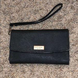 Kate Spade black wallet wristlet